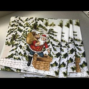 Williams Sonoma Holiday Napkins set of 4